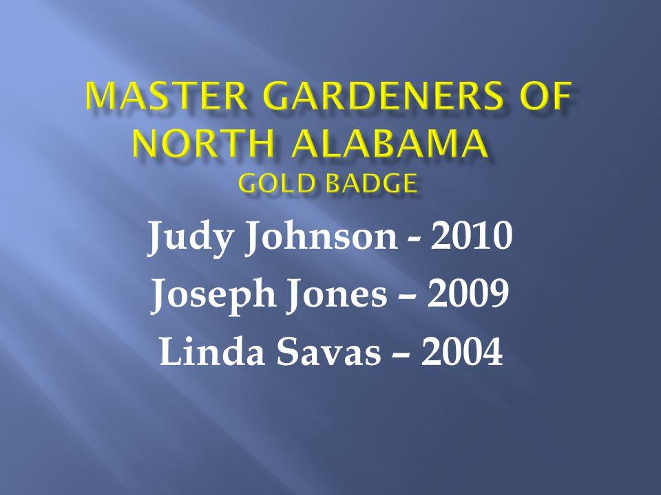 Judy Johnson - 2010 Joseph Jones – 2009 Linda Savas – 2004