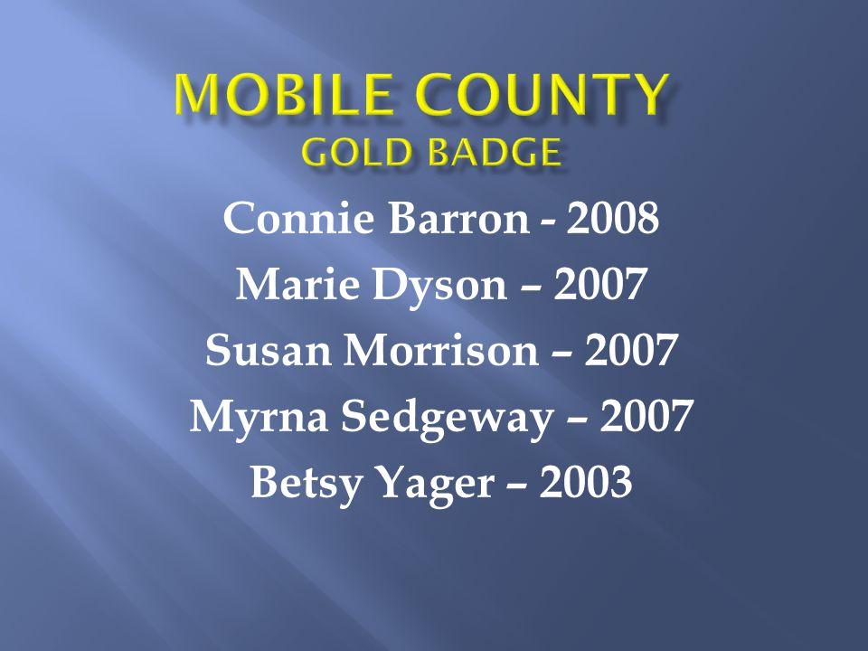 Connie Barron - 2008 Marie Dyson – 2007 Susan Morrison – 2007 Myrna Sedgeway – 2007 Betsy Yager – 2003