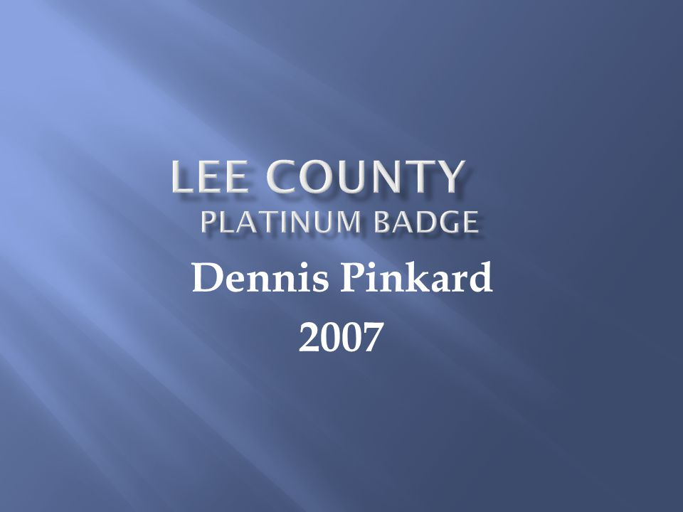 Dennis Pinkard 2007