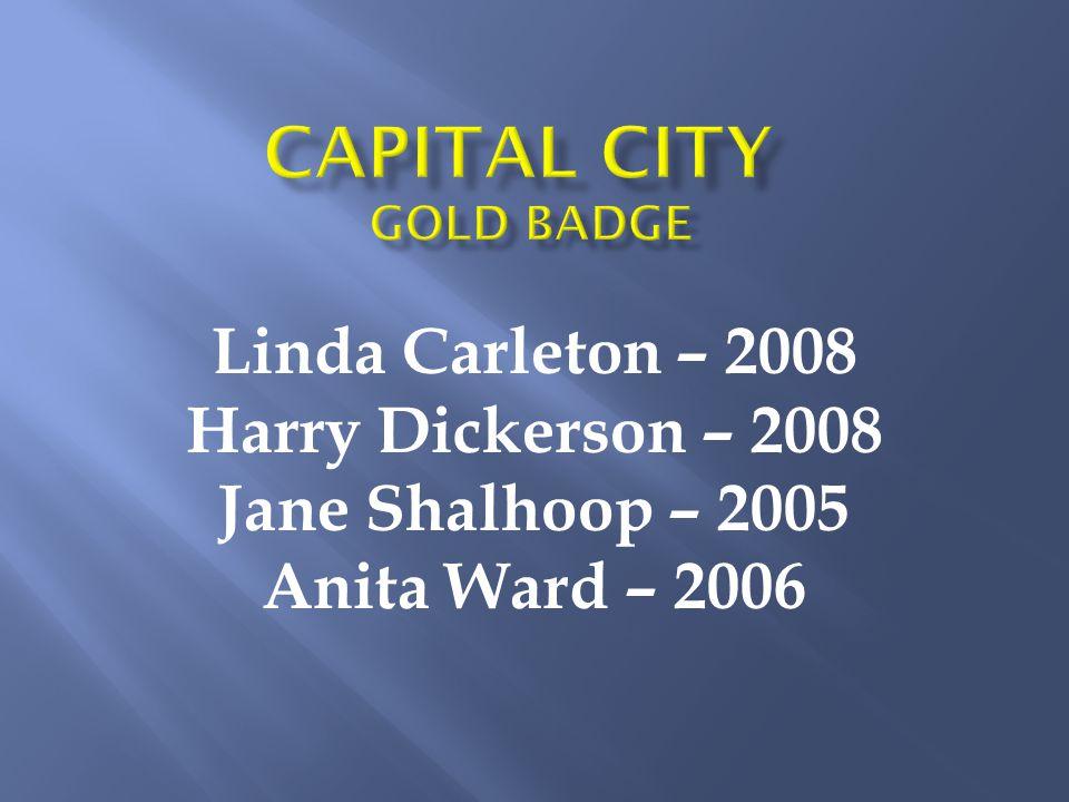 Linda Carleton – 2008 Harry Dickerson – 2008 Jane Shalhoop – 2005 Anita Ward – 2006
