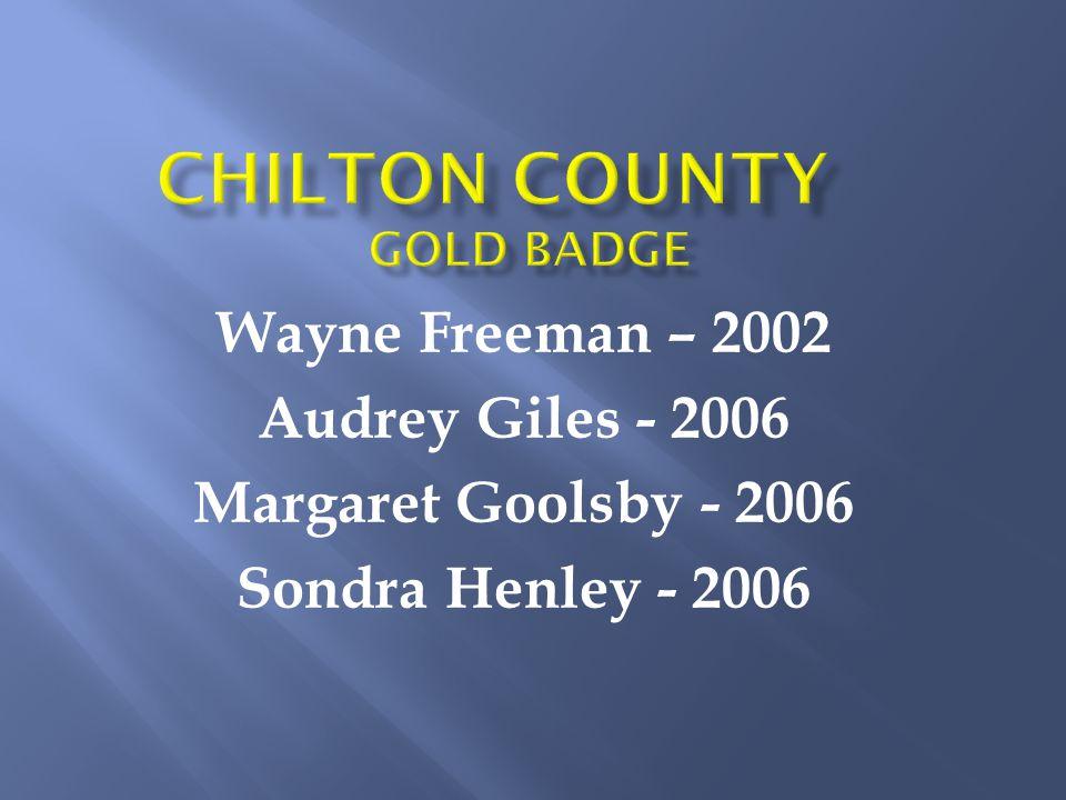 Wayne Freeman – 2002 Audrey Giles - 2006 Margaret Goolsby - 2006 Sondra Henley - 2006