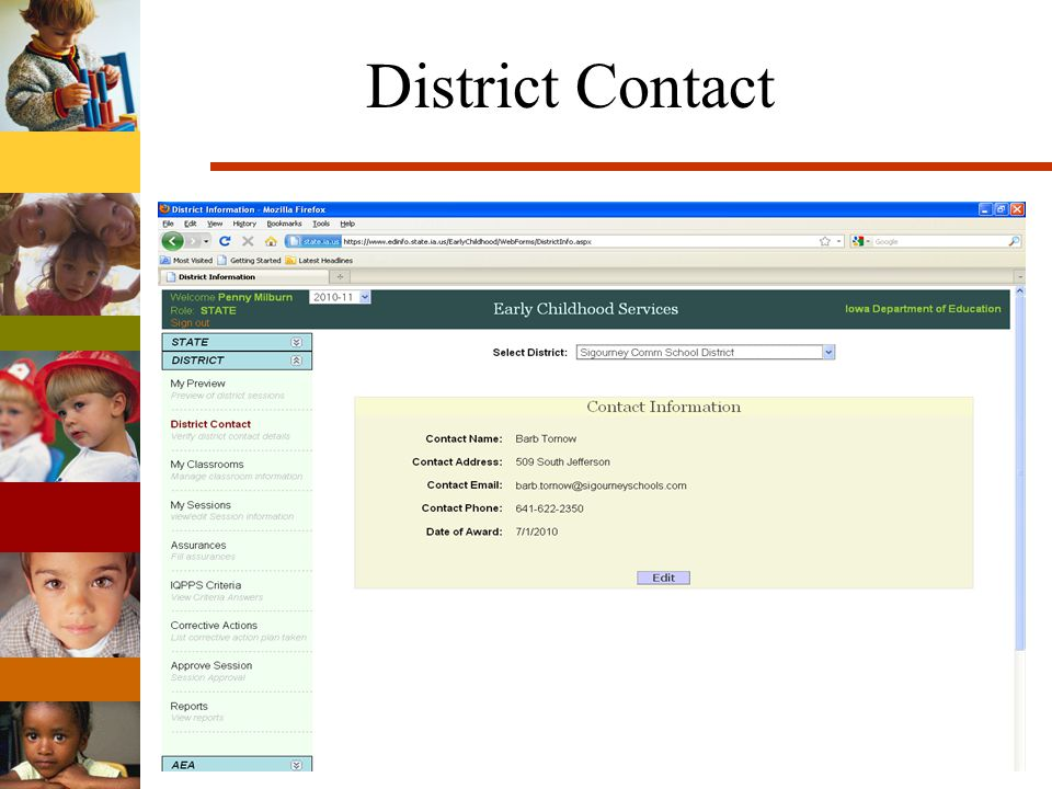 District Contact