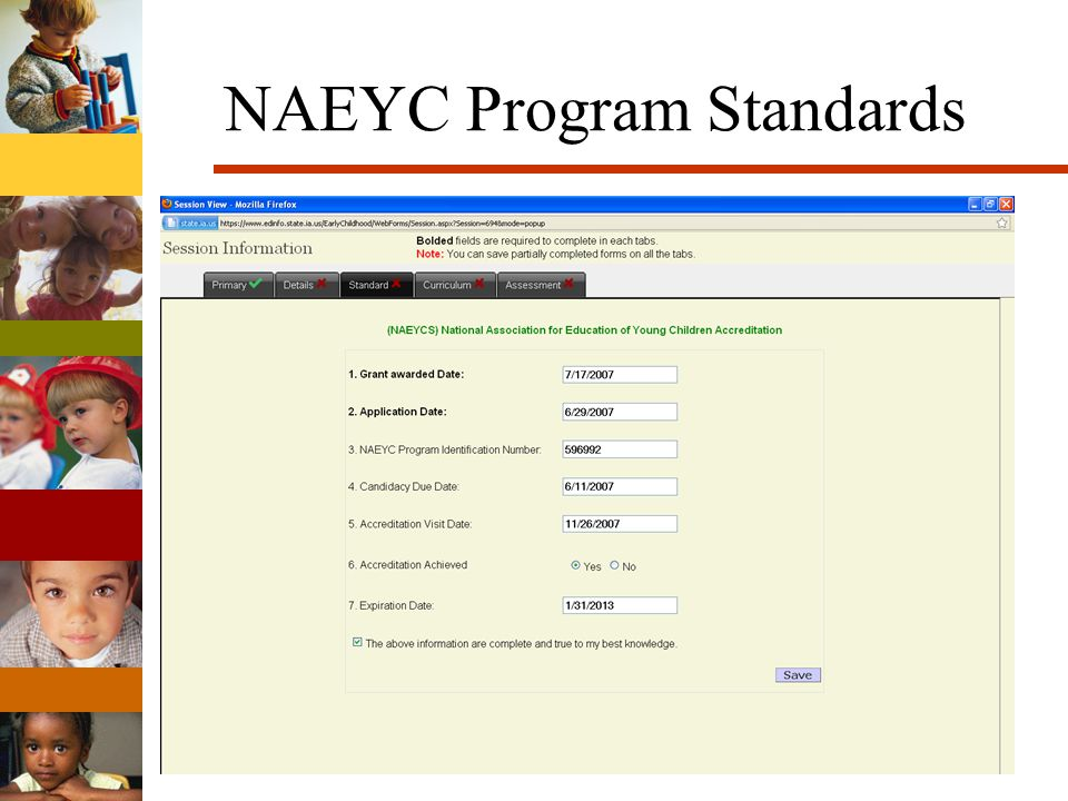 NAEYC Program Standards