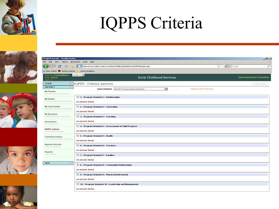 IQPPS Criteria