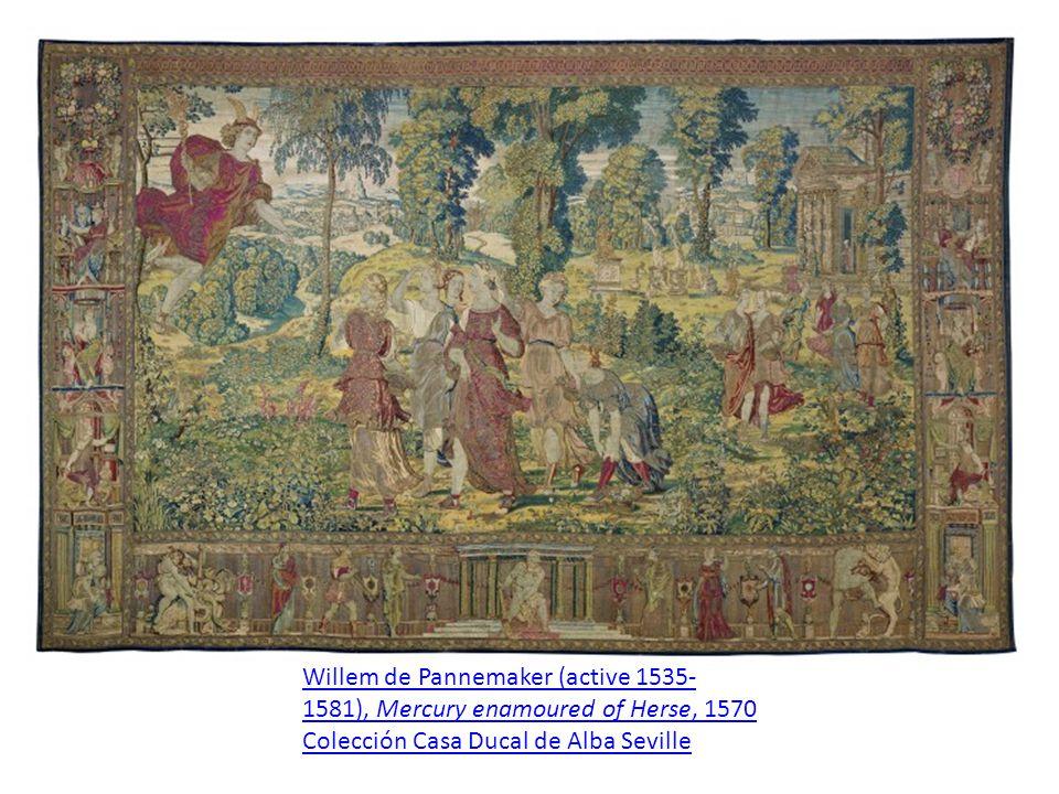 Willem de Pannemaker (active 1535- 1581), Mercury enamoured of Herse, 1570 Colección Casa Ducal de Alba Seville