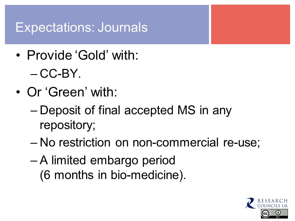 The transition: Non Solus Gold OA: –RCUK preference for immediate, unrestricted access to the article of record; –Publishers preference as sustainable and scalable in an OA world.