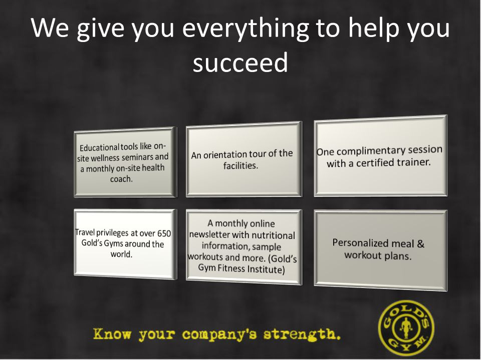 We give you everything to help you succeed