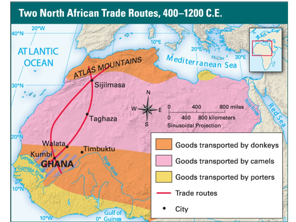 History of Trade Trade across the Sahara was difficult in history.