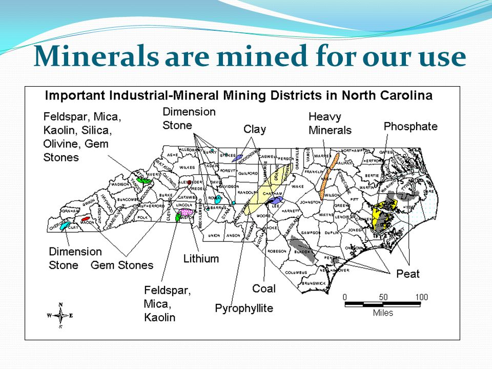 Minerals are mined for our use
