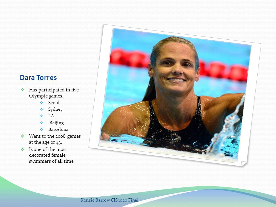 Dara Torres Has participated in five Olympic games.