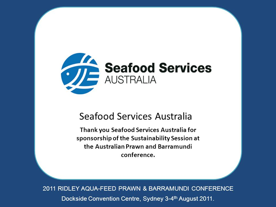 CHARTER REFRIGERATED TRANSPORT Thank you once again Charter Refrigerated Transport for the lanyard sponsorship of the Australian Prawn and Barramundi conference.