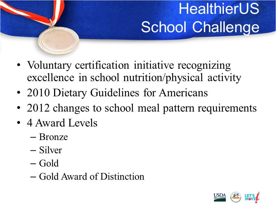 HealthierUS School Challenge 2012