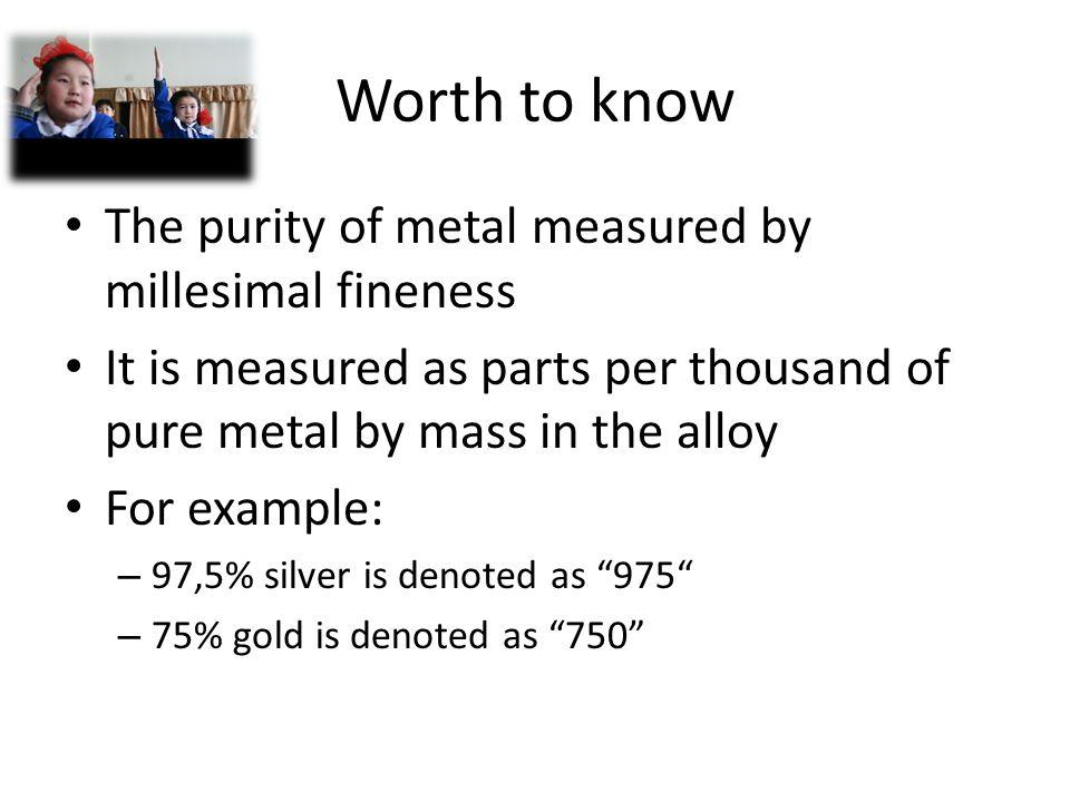 . Active metals Inactive metals