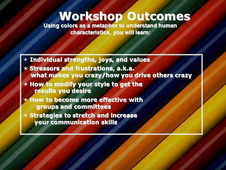 True Colors Understanding Yourself and Others ACA Leadership Institute July 24, 2103 Dr. Lynn Linde