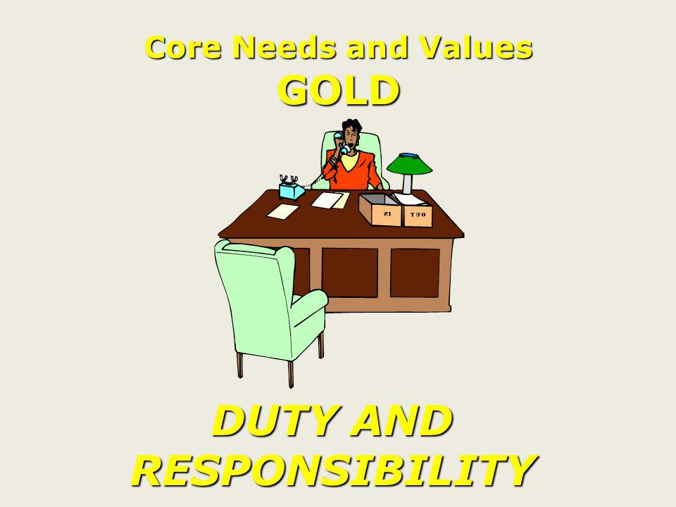 CORE NEEDS & VALUES