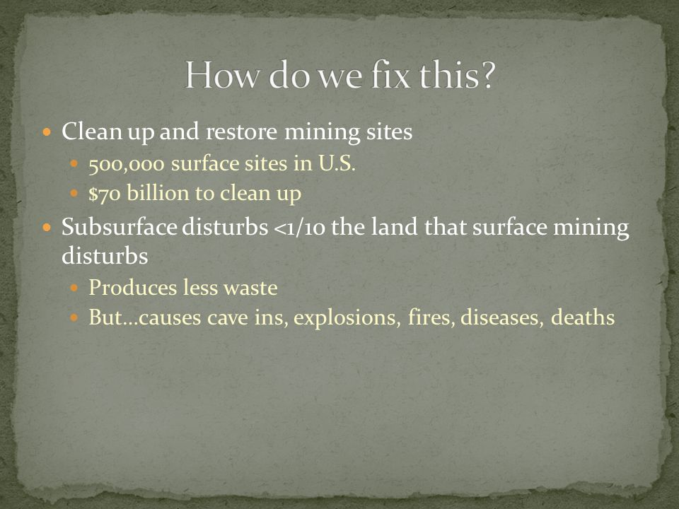 Designed to encourage mineral exploration on U.S.