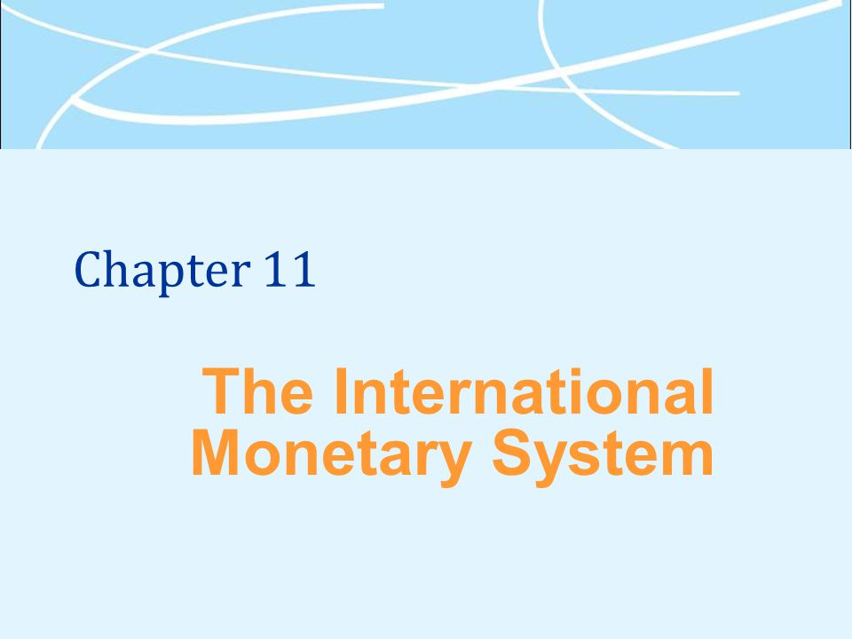 Chapter 11 The International Monetary System