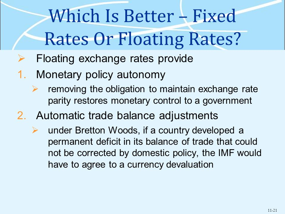 11-21 Which Is Better – Fixed Rates Or Floating Rates.