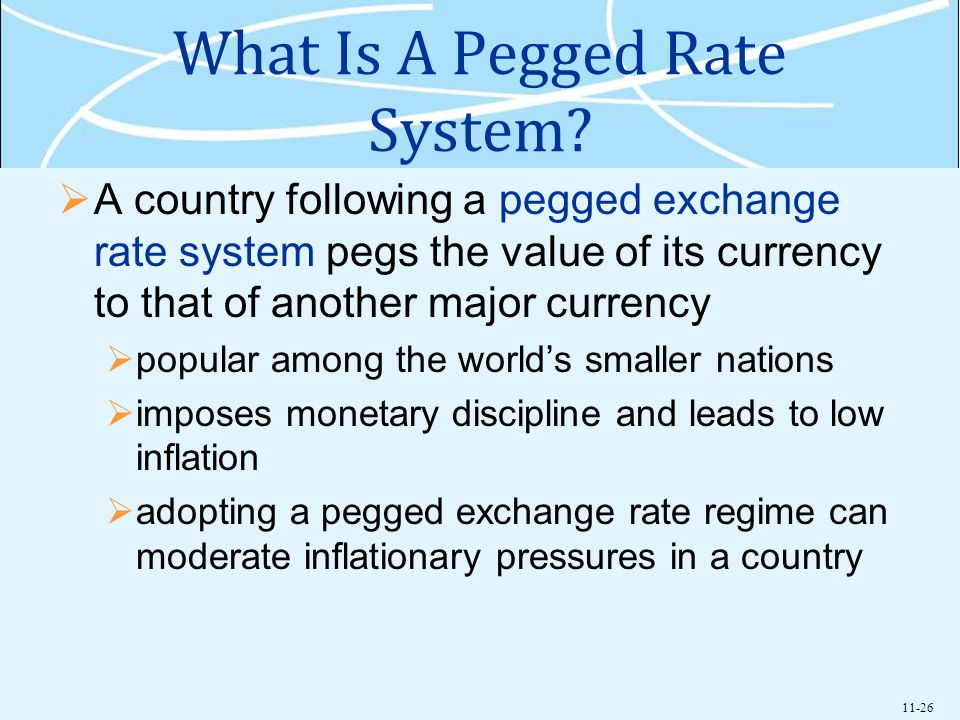 11-26 What Is A Pegged Rate System.