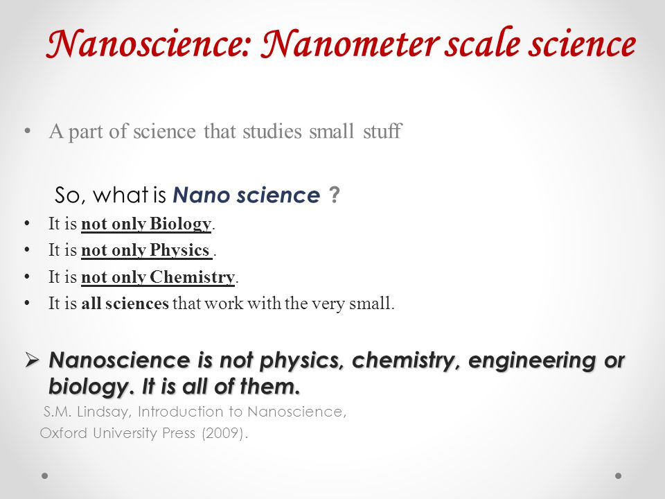 Things are different at different Length Scale There are enormous Length scale differences in our universe.