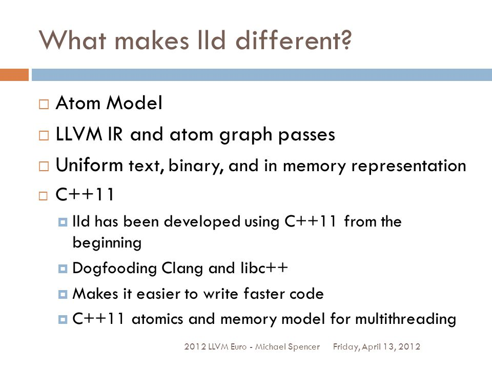 What makes lld different.