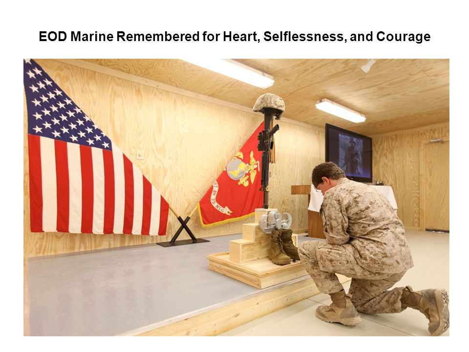 EOD Marine Remembered for Heart, Selflessness, and Courage
