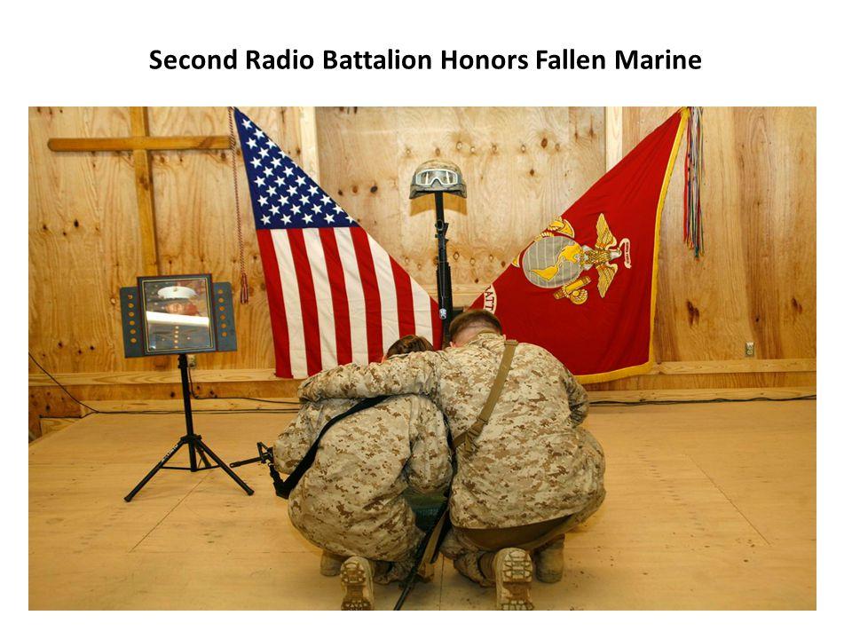 Second Radio Battalion Honors Fallen Marine