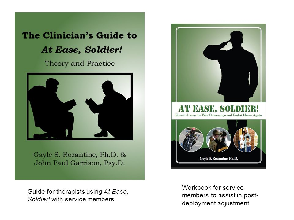 Guide for therapists using At Ease, Soldier.
