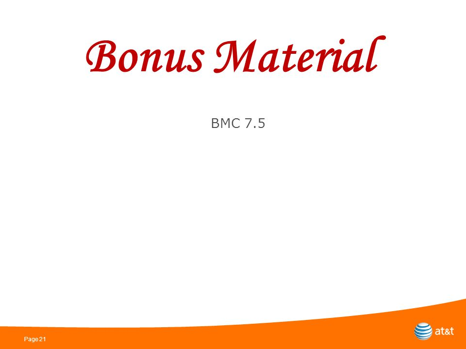 Page 21 Bonus Material BMC 7.5