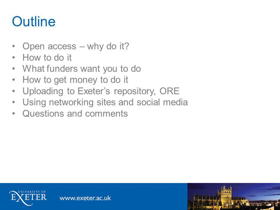 Whos affected by open access.Everyone.