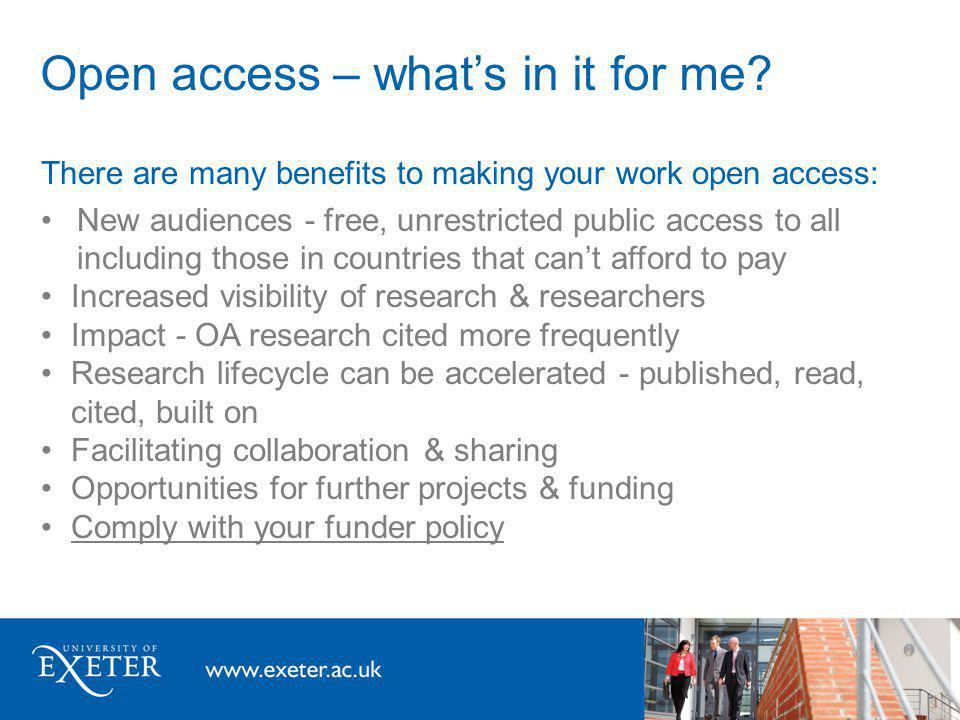 Open access – whats the state of play.