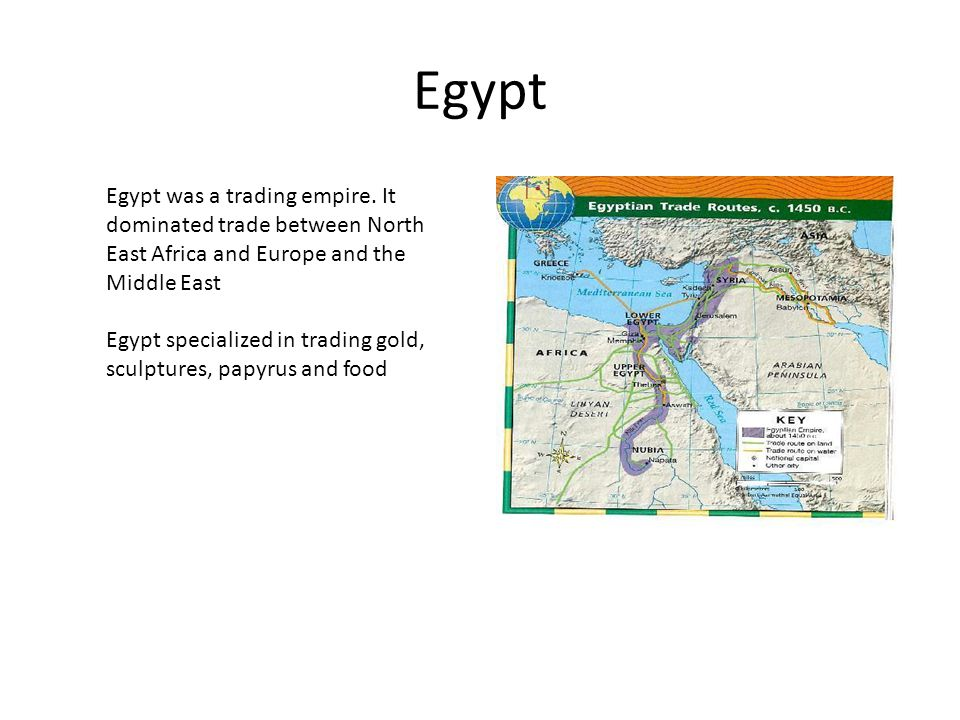 Egypt Egypt was a trading empire.