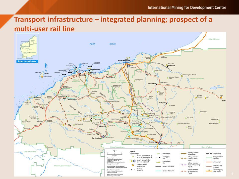 Transport infrastructure – integrated planning; prospect of a multi-user rail line 15