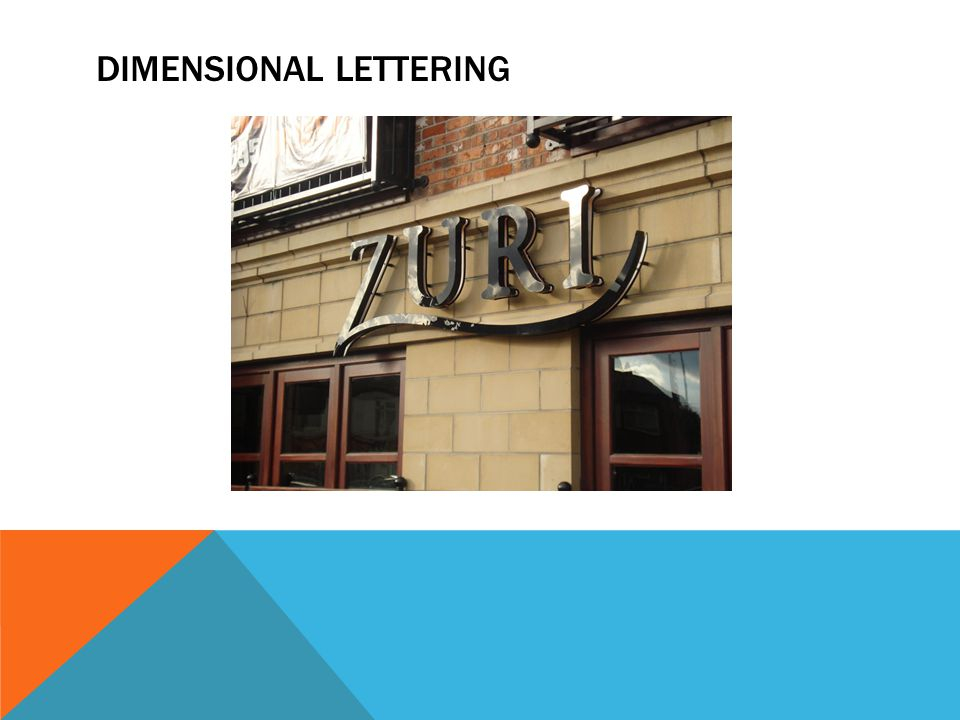 DIMENSIONAL LETTERING