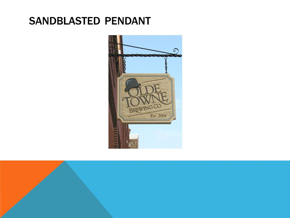 SANDBLASTED PENDANT