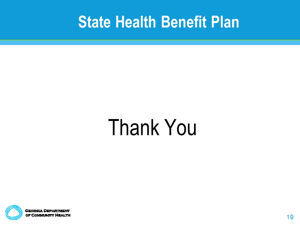 19 State Health Benefit Plan Thank You