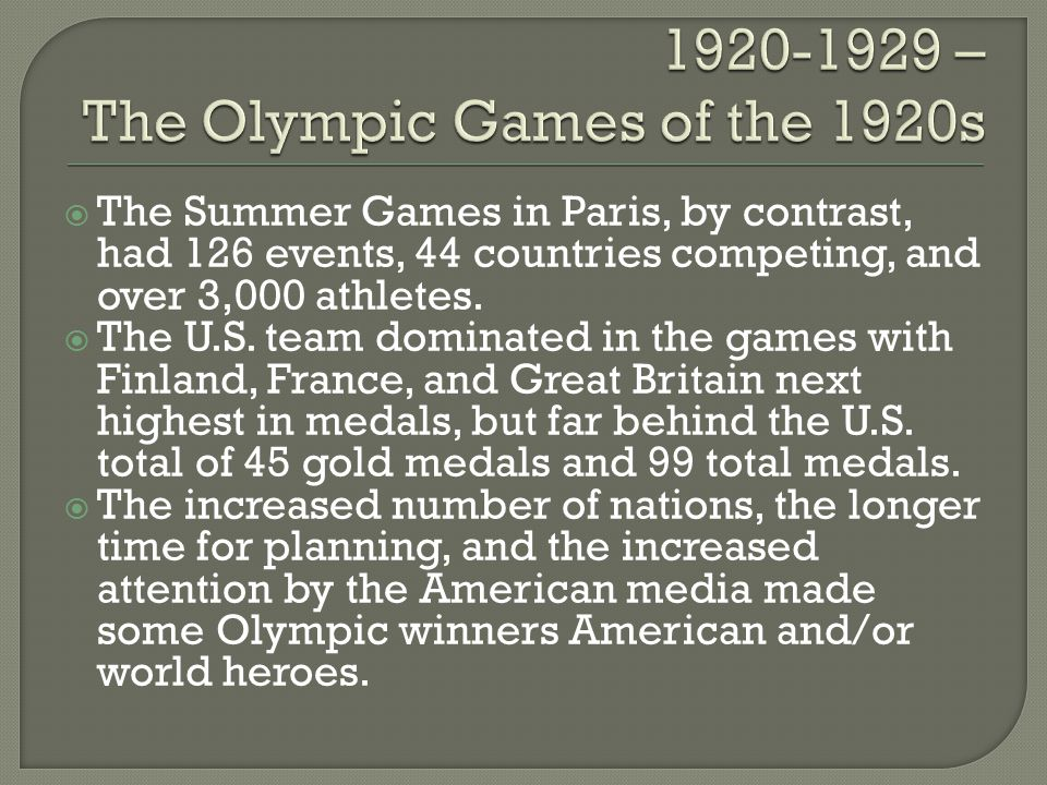 The Summer Games in Paris, by contrast, had 126 events, 44 countries competing, and over 3,000 athletes. The U.S. team dominated in the games with Fin