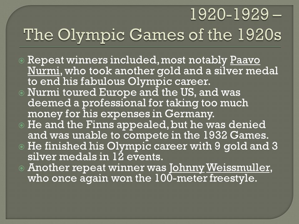 The continued American success at the Olympic Games and the anticipation of hosting the 1932 Games created greater interest in the Olympic Games in the US.