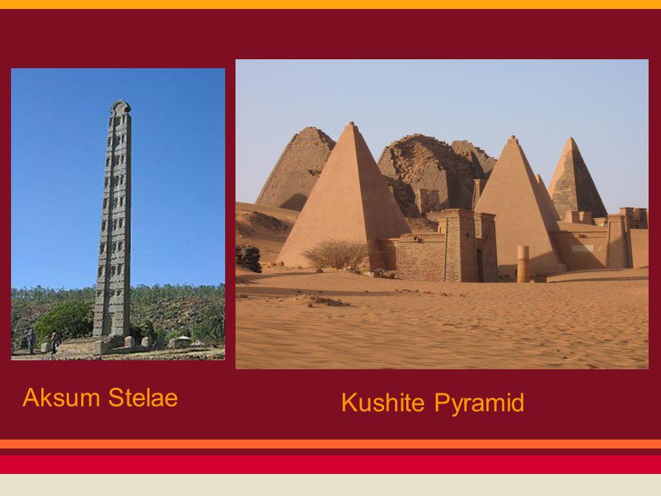 Aksum Stelae Kushite Pyramid