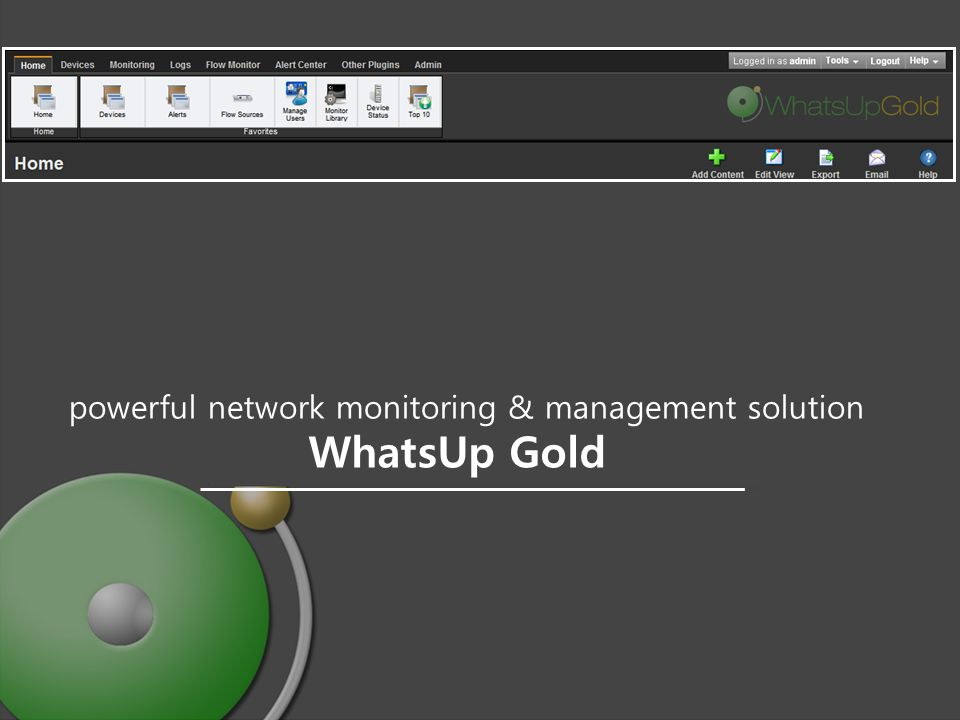 Agendapowerful network monitoring & management solution Agenda 2 About Vinetech & Ipswitch Intro About NMS WhatsUp Gold Core Products Architecture Management Manage Consol / Dashboard Customizing / Active, Performance, Passive Monitor / Alarm / Alert Center / Control Devices / Tools Plug In Flow Monitor WhatsVitual for VMware WhatsConfiguired for Configuration WhatsConnated for Layer 2/3 System Requirement Reference Site