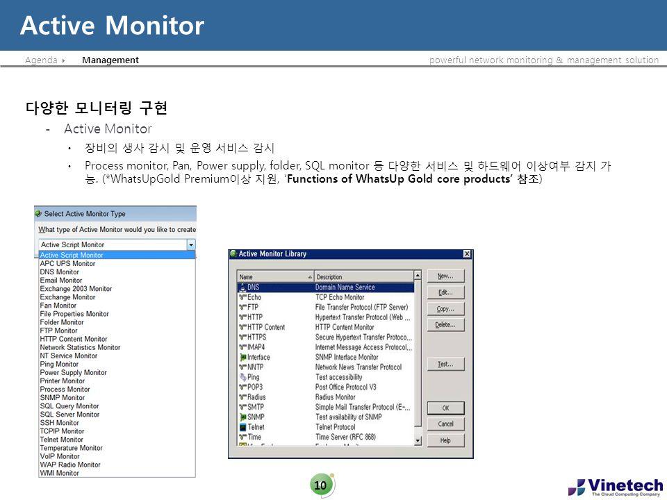 Agendapowerful network monitoring & management solution Active Monitor 10 Management - Active Monitor Process monitor, Pan, Power supply, folder, SQL