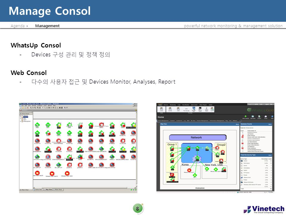 Agendapowerful network monitoring & management solution WhatsVitual for VMware 19 Plug in
