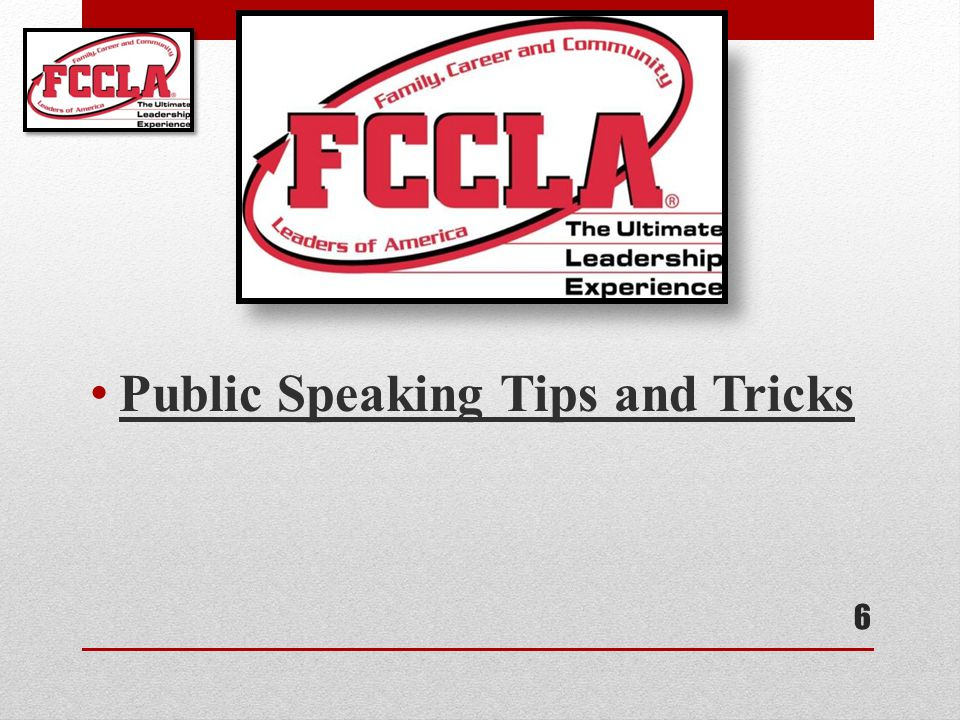 Public Speaking Tips and Tricks 6