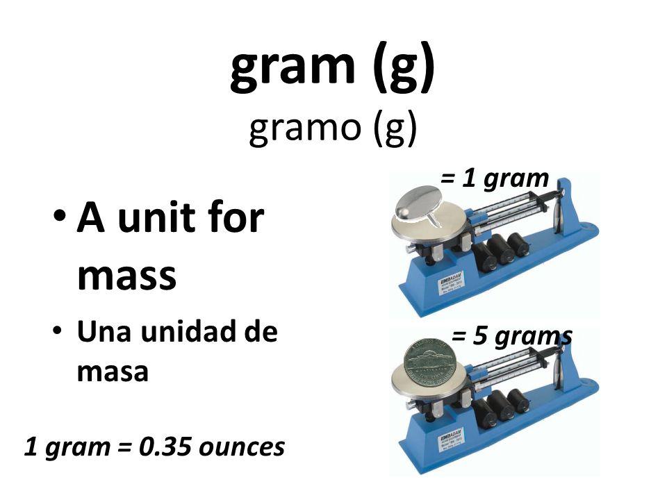 Use the Triple-Beam Balance to measure mass (g)