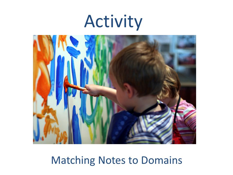 Activity Matching Notes to Domains