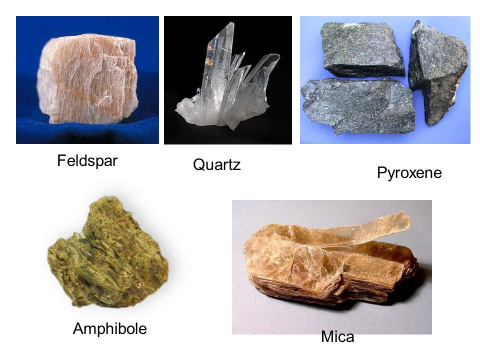 Other common mineral crystals include: 1.Clay minerals (which is another group of silicates) 2.