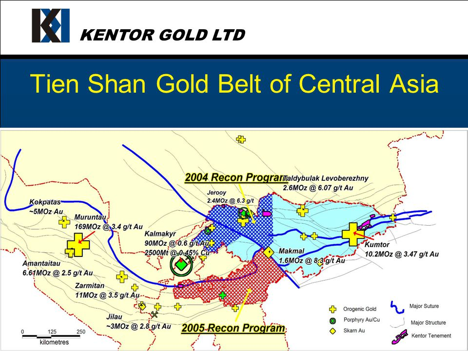 KENTOR GOLD LTD Kentor has the management team, finance and the scientific skill to unlocking the potential of the highly prospective Tien Shan Gold Belt