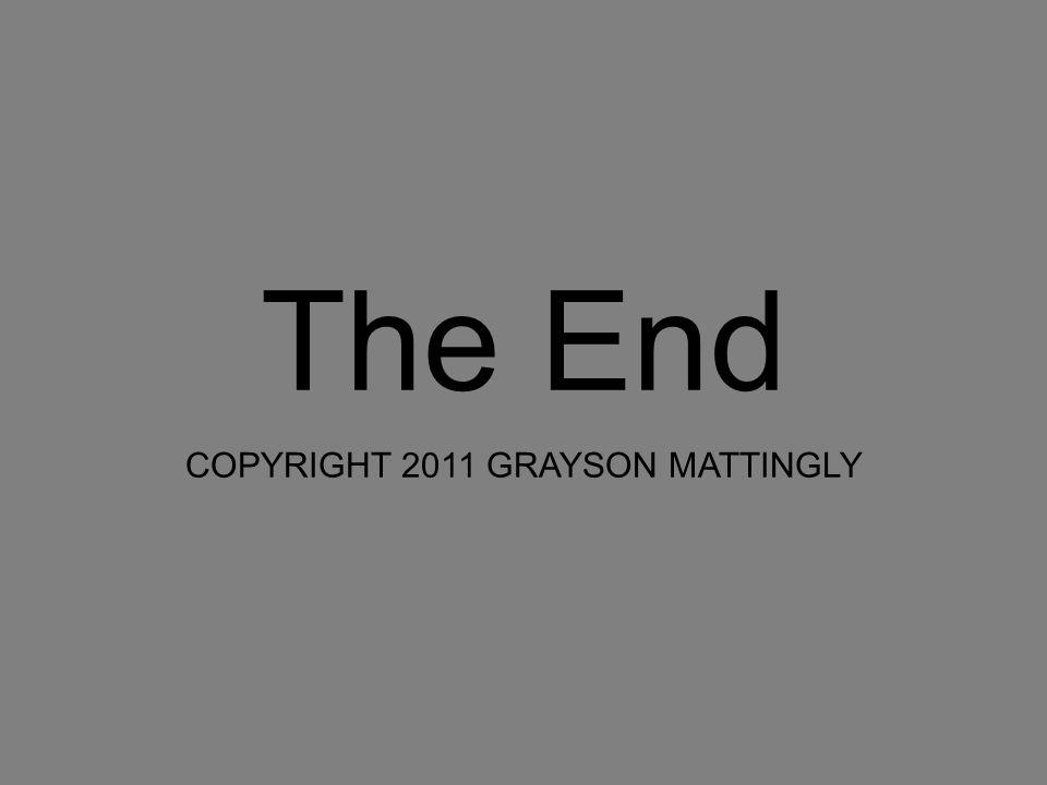 The End COPYRIGHT 2011 GRAYSON MATTINGLY