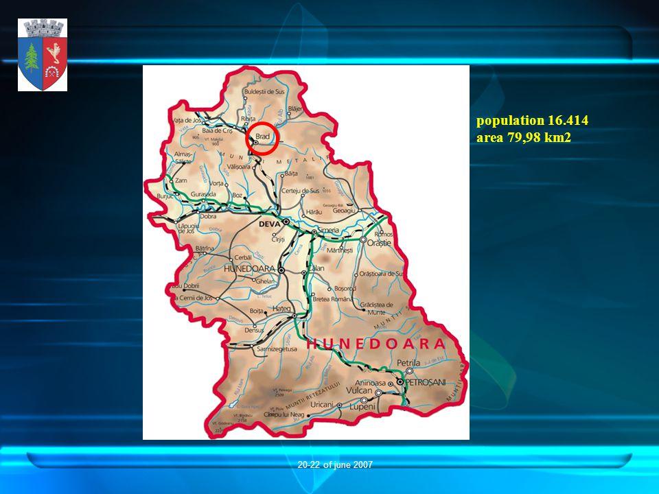 20-22 of june 2007 population 16.414 area 79,98 km2