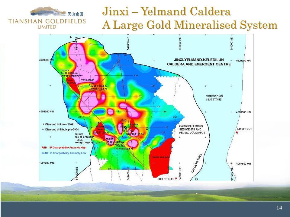 14 Jinxi – Yelmand Caldera A Large Gold Mineralised System